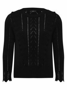 Women's Ladies pointelle frill jumper