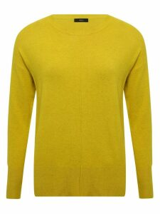 Women's Ladies neppy seam detail jumper long sleeve crew neck rib trim