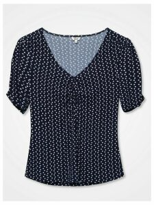 Women's Khost Clothing short sleeve spot ruched top