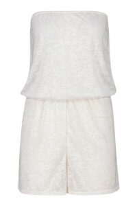 Womens Burnout Jersey Beach Playsuit - White - L, White