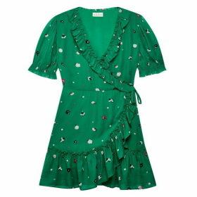 Jack Wills Lilly Ruffle Wrap Dress - Green