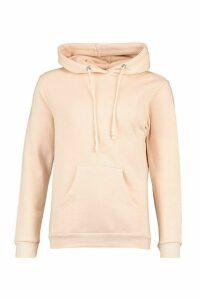 Womens Basic Pocket Detail Hoody - Pink - M, Pink