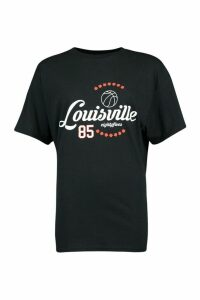 Womens Louisville Printed T-Shirt - Black - L, Black