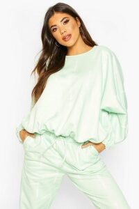 Womens Woman Oversized Sweatshirt - green - 16, Green