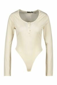 Womens Jersey Popper Body - white - 14, White