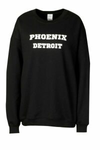 Extreme Oversized Slogan Crew Neck Sweat - black - XXL, Black