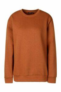 Oversized Sweatshirt - Beige - M, Beige