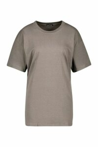 Womens Oversized Overdyed Back Graphic Tee - grey - S, Grey