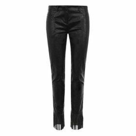 Philosophy di Lorenzo Serafini Leather Fringe Trousers