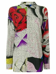 Versace Pre-Owned rose pop art shirt - Multicolour
