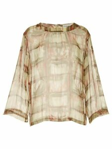 Chanel Pre-Owned 1998 long sleeve sheer top - Multicolour