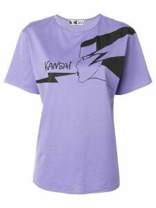 Kansai Yamamoto Pre-Owned Kansai logo T-shirt - PURPLE