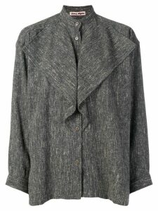 Issey Miyake Pre-Owned frill detail shirt - Grey