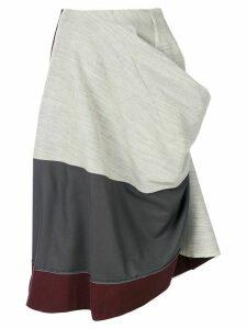 Comme Des Garçons Pre-Owned 1998 deconstructed draped skirt - Grey