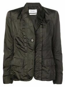 Yves Saint Laurent Pre-Owned single breasted silk jacket - Brown