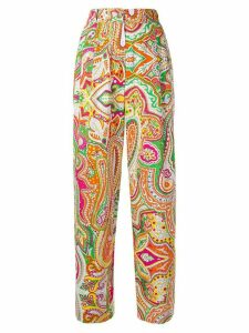 Moschino Pre-Owned printed straight-leg trousers - PINK