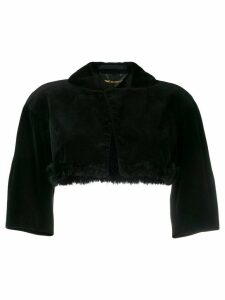 Comme Des Garçons Pre-Owned velvet bolero - Black