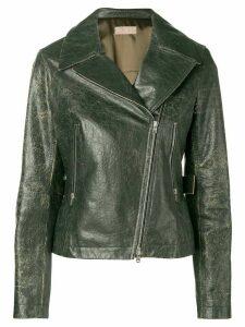 Alaïa Pre-Owned 2000 distressed biker jacket - Green