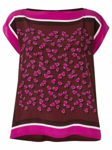 Gucci Pre-Owned foulard print top - Brown