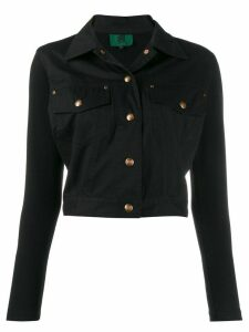 Jean Paul Gaultier Pre-Owned snap cropped jacket - Black