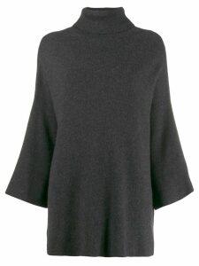Yohji Yamamoto Pre-Owned turtleneck loose jumper - Grey