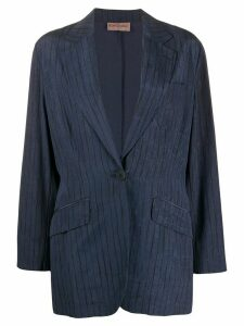 Romeo Gigli Pre-Owned 1990s slim-fit pinstriped blazer - Blue