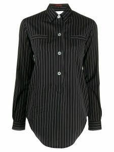 Romeo Gigli Pre-Owned 1990s cut-off detail striped shirt - Black