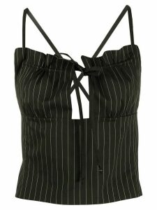 Romeo Gigli Pre-Owned 1990s pinstripe corset top - Brown