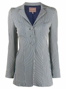 Romeo Gigli Pre-Owned 1990s slim-fit striped jacket - Blue