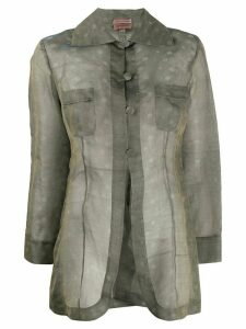Romeo Gigli Pre-Owned 1990s silk polka dotted shirt - Grey
