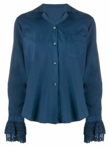 Romeo Gigli Pre-Owned 1990s lace details shirt - Blue