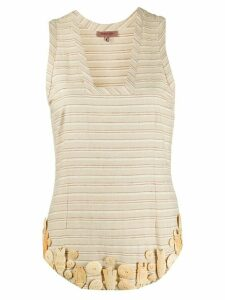 Romeo Gigli Pre-Owned embellished striped blouse - NEUTRALS