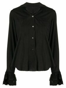 Romeo Gigli Pre-Owned 1990s macramé detailed shirt - Black