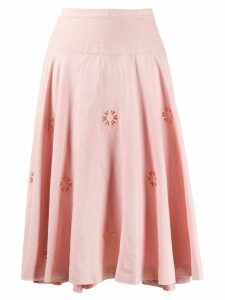 Céline Pre-Owned 1980s flower-cut flared skirt - PINK