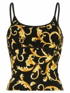 Versace Baroque print vest top - Black