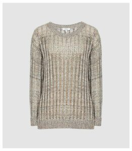 Reiss Polly - Open-knit Jumper in Multi, Womens, Size XL