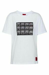 Slim-fit cotton T-shirt with collection-themed graphic