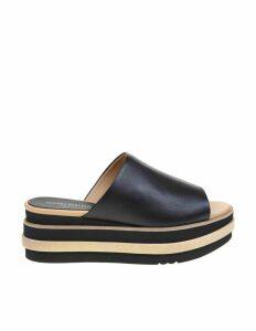 Paloma Barcelo musha Black Leather Sandal