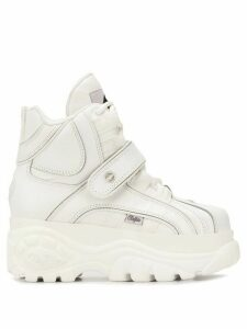 Buffalo platform high-top sneakers - White