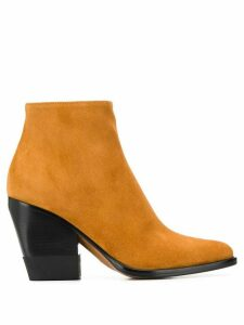 Chloé pointed toe 105mm ankle boots - Brown