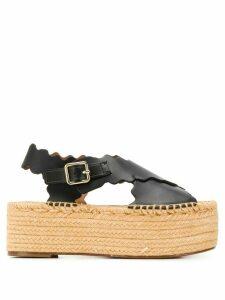 Chloé flatform 65mm sandals - Black