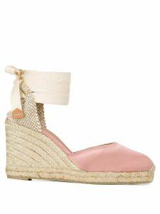 Castañer high wedge heel espadrilles - PINK