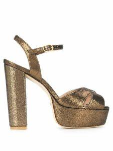 Stuart Weitzman Soliesse platform sandals - GOLD