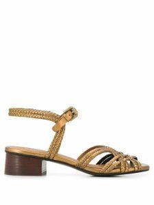See By Chloé braided-strap block-heel sandals - Brown