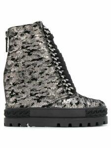 Casadei wedge heel boots - SILVER