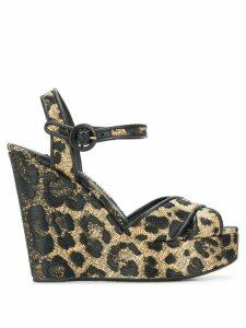 Dolce & Gabbana leopard print wedge heels - NEUTRALS