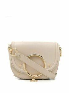 See by Chloé Mara stud-embellished crossbody bag - NEUTRALS