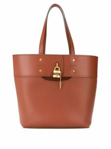 Chloé Aby leather tote bag - Brown