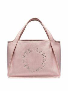 Stella McCartney studded logo tote bag - PINK