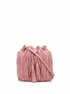 Miu Miu matelassé bucket bag - PINK